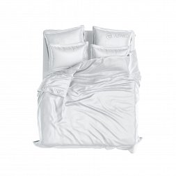Set DeLuxe Percale Cotton Ice White